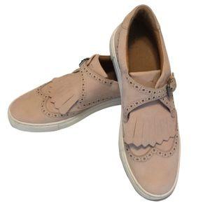 Frye Gemma Kiltie Nubuck Blush Loafer Sneaker 10
